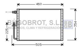 Condensador 60-UV5000 - CONDENSADOR SANDEN FLUJO PARALELO 460 X 360 X 16