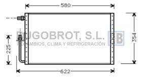 Condensador 60-UV5001 - CONDENSADOR SANDEN FLUJO PARALELO 580 X 361 X 16
