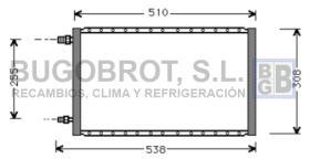 Condensador 60-UV5002 - CONDENSADOR STANDARD  FLUJO PARALELO 538 X 308  X 16