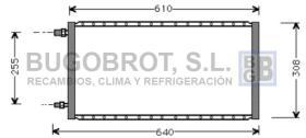 Condensador 60-UV5003 - CONDENSADOR STANDARD  FLUJO PARALELO 570 X 285 X 16