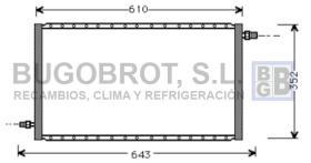 Condensador 60-UV5004 - CONDENSADOR STANDARD  FLUJO PARALELO  610 X 352 X 16