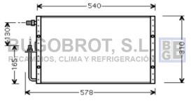 Condensador 60-UV5098 - CONDENSADOR UNIVERSAL SANDEN 540 X 310 X 16 MM.