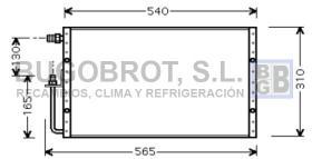 Condensador 60-UV5099 - CONDENSADOR UNIVERSAL  SANDEN 540 X 310 X 25 MM.