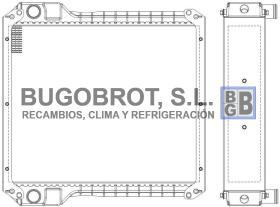 Radiadores 40-JC4068 - RADIADOR JCB 3CX (30925627)